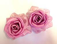 Банты ручной работы на резинке, пурпурного цвета, диаметр 7 см