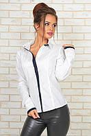 Женская хлопковая рубашка с вставками