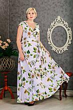 Летнее платье с цветочным принтом Размер 50
