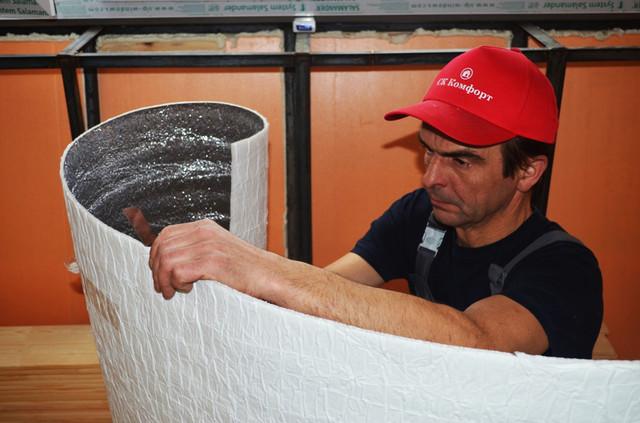 фольгоизол для обшивки потолка, стен на балконе