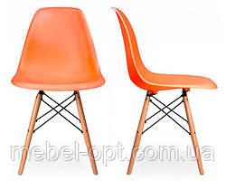 Детский стул Eames DSW оранжевый, сверхпрочный пластик ABS, дизайн Charles & Ray Eames