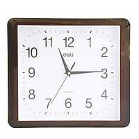 Часы настенные Deli 9007 микс 34,5смх30см квадратные