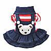 """Платье теплое джинсовое, толстовка """"Мишка рюкзачок"""" для собаки, кошки. Одежда для собак., фото 2"""