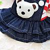 """Платье теплое джинсовое, толстовка """"Мишка рюкзачок"""" для собаки, кошки. Одежда для собак., фото 4"""