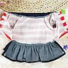 """Платье теплое джинсовое, толстовка """"Мишка рюкзачок"""" для собаки, кошки. Одежда для собак., фото 5"""
