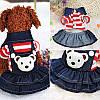 """Платье теплое джинсовое, толстовка """"Мишка рюкзачок"""" для собаки, кошки. Одежда для собак., фото 6"""