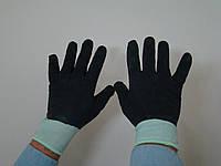 Перчатки прорезиненные черные КТ