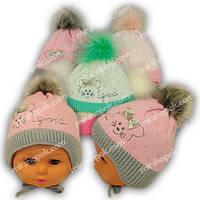Вязаная шапочка для девочки, Grans (Польша), утеплитель Softi Term, N93ST