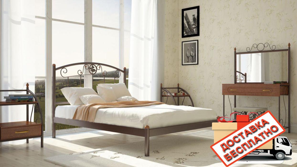 Кровать металлическая кованная Монро двуспальная, фото 1