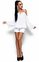 Жіноча вільна біла блузка Yana