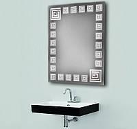 Зеркало с подсветкой для ванной комнаты 800х600 d-5 влагостойкое