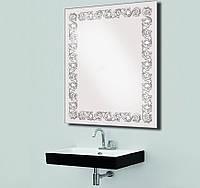 Зеркало с LED подсветкой для ванной комнаты влагостойкое 800х600 мм d-7