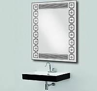Зеркало с лэд подсветкой для ванной комнаты d-10 600х800 мм