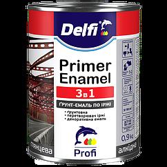 Грунт-Емаль по ржавчине 3 в 1 Delfi RAL 8016, темно-коричневая 2,8 кг