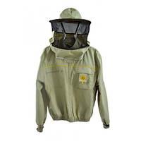 Куртка пчеловода (ткань) на молнии з защитной маской Premium