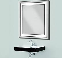 Зеркало с LED подсветкой 533х683 мм d-54зеркало с подсветкой в ванную, фото 2