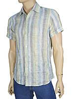 Рубашка мужская разных цветов с коротким рукавом M