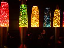 Глиттер лампа,  31 см. лава лампа, магма лампа, парафиновая лампа, с блёсками
