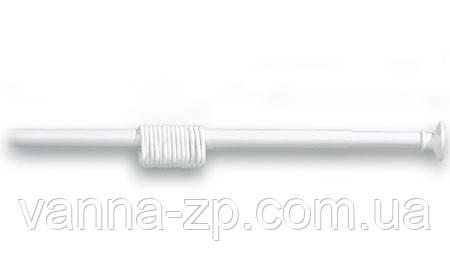 Карниз для шторы в ванну 160-300 см белый