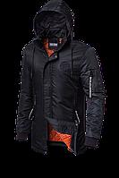 Мужская длинная демисезонная куртка (р. 48-54) арт. 66205