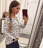 Женская красивая блуза со шнуровкой (4 цвета), фото 3