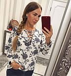 Женская красивая блуза со шнуровкой (4 цвета), фото 4