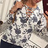 Женская красивая блуза со шнуровкой (4 цвета), фото 5