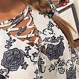 Женская красивая блуза со шнуровкой (4 цвета), фото 6