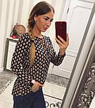 Женская красивая блуза со шнуровкой (4 цвета), фото 8