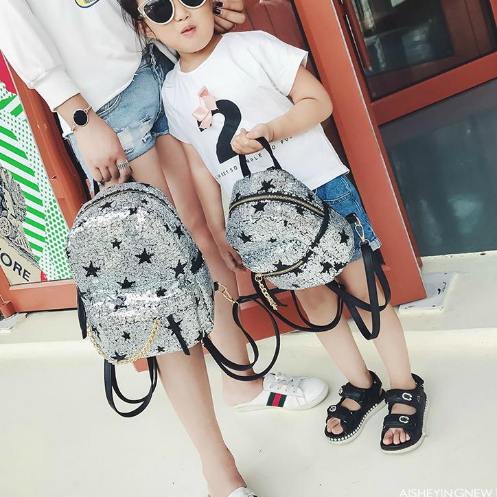 Модный рюкзак со звездами мама+дочка