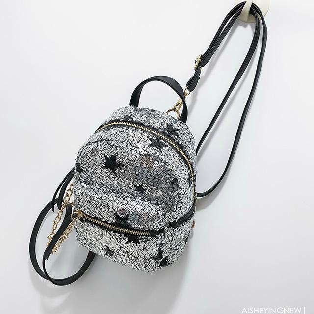 Модный рюкзак в паетках