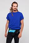 Сумка на пояс спортивная Sea & sky с карманом для бутылки голубая, фото 4