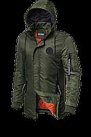 Мужская осенняя длинная куртка (р. 48-54) арт. 66205