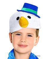 Детский карнавальный головной убор Снеговик