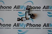 Шлейф для мобильного телефона Apple iPhone 4S кнопок звука / коннектора наушников с компонентами черный