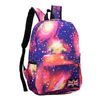Рюкзак городской Space Galaxy Космос Галактика розовый