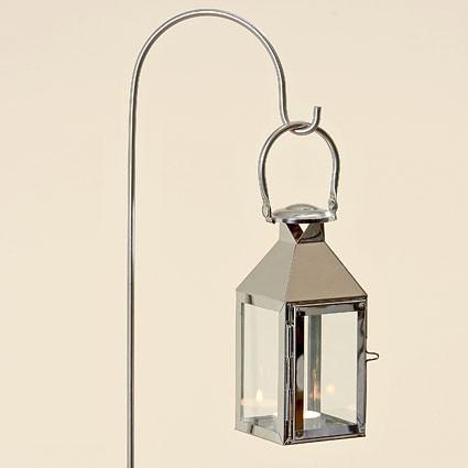 Подсвечник фонарь Jason серебряная нержавеющая сталь h115см Гранд Презент 1170300