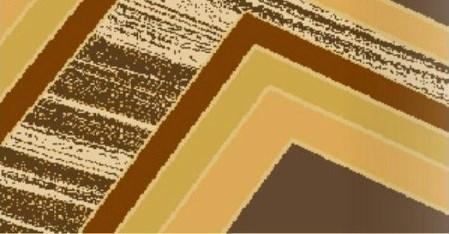 """Рельефный ковер Нью Йорк """"Ламанная линия"""", цвет коричневый"""