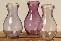 Ваза Criso розовое стекло h15см