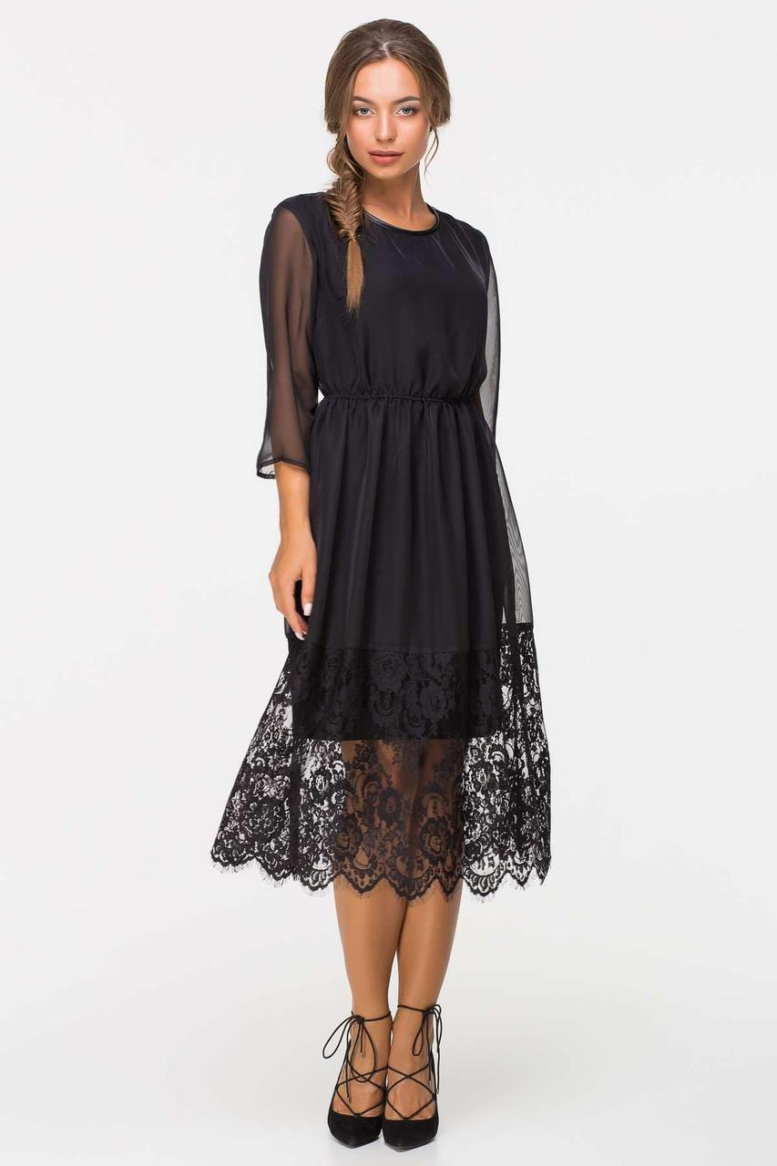 5de3866ff8b Шифоновое вечернее платье EVE черное - Fashop Женская одежда от  производителя в Харькове
