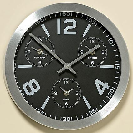 Часы Оклахома в серебре D35см 1005634 1005634 1005634