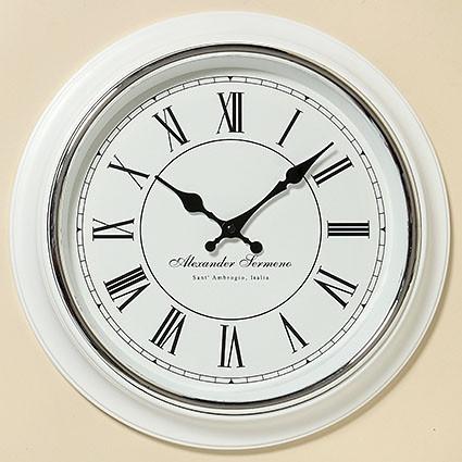 Часы Yella белый полистоун d40cm 3453100 3453100 3453100