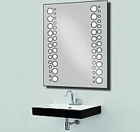 Зеркало с LED подсветкой настенное d20 800х600 мм Лед