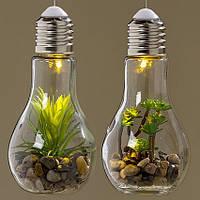 Светодиодная лампа с установкой стекло h18см