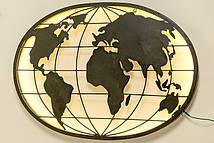 Настенный светодиодный ночник карта мира L99см Гранд Презент 1003887