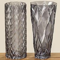 Ваза Lykke серое лакированное стекло h30см