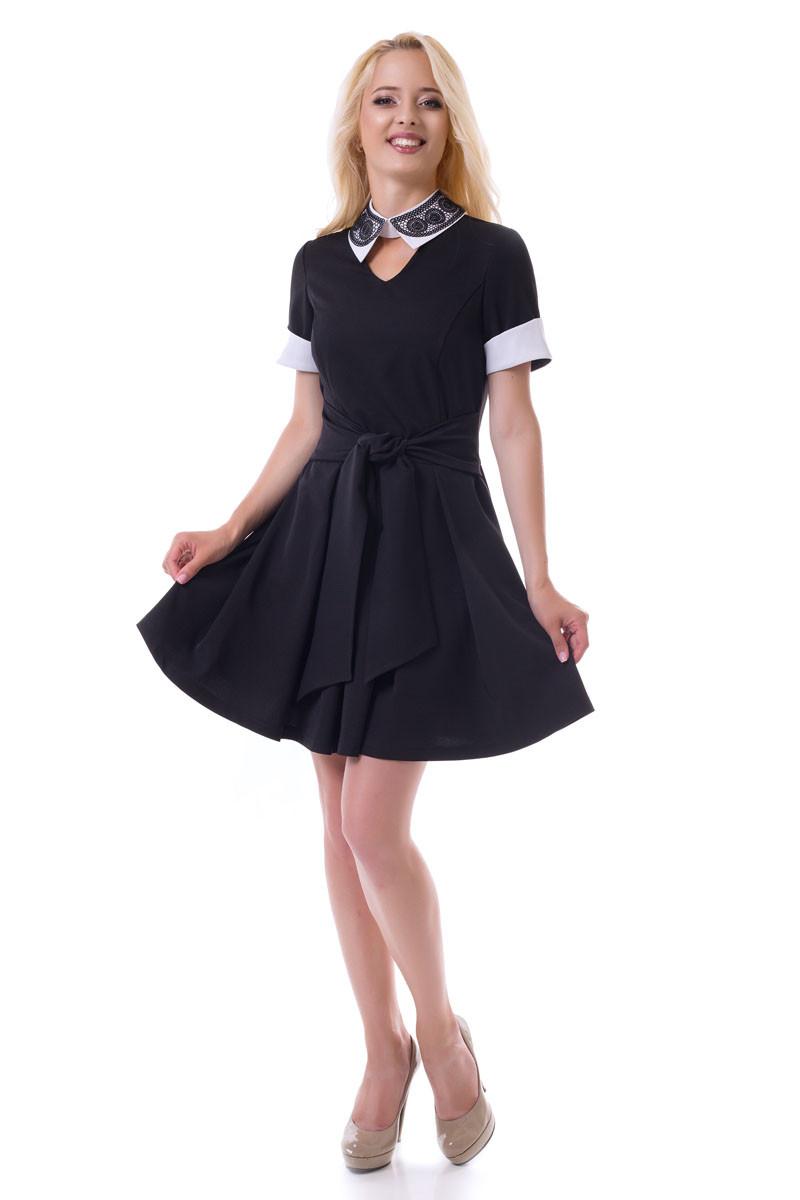 3cea4b4ec48e8e6 Черное платье с белым воротником, цена 641 грн., купить в Хмельницком —  Prom.ua (ID#570619300)