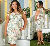 Женское легкое платье цветочного принта