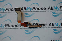 Шлейф коннектора зарядки и микрофона с компонентами для Apple iPhone 4GS Black