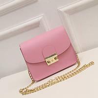 Розовая женская сумка ,кроссбоди,брак